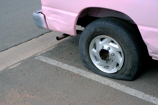 <Jim Eyre> <Pink> <Car> <Flat Tyre> <Darklight Art>