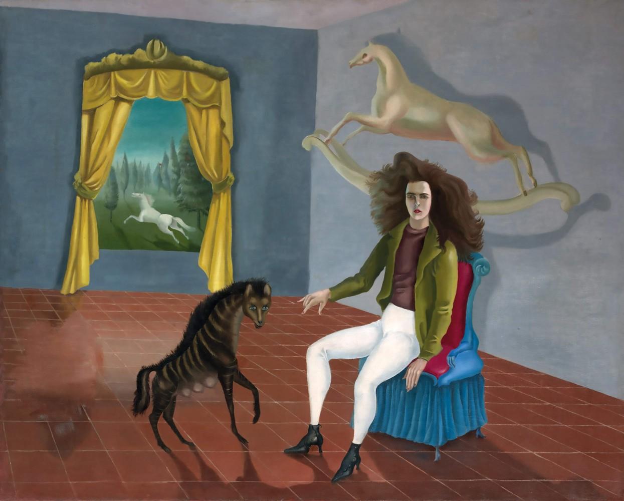 <Leonora Carrington> <Self Portrait (Inn of the Dawn Horse> <Female Surrealist> <Historical Heroines> <Darklight Art>