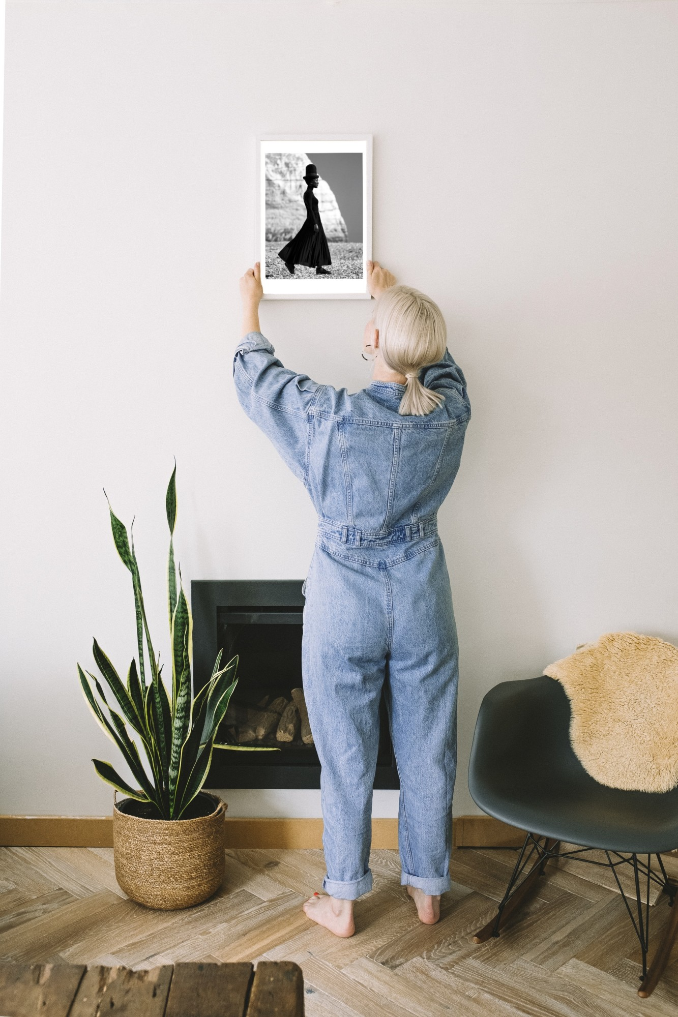 Sarah Williams co-founder Darklight Art | How to hang art in a rental